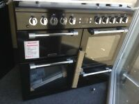 Leisure cookmaster 100cm black range. £750 RRP £1000 new/graded 12 month Gtee