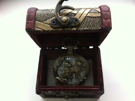 Quartz Pocket Watch Open-faced Cover Mixed Style Wild Wolf face