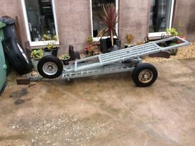 Galvanised towing recovery trailer