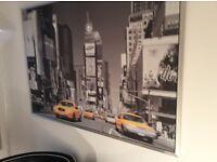 Large Metallic Framed New York Street Scene