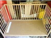 Two IKEA Cots (one is cot bed) plus extras & mattresses