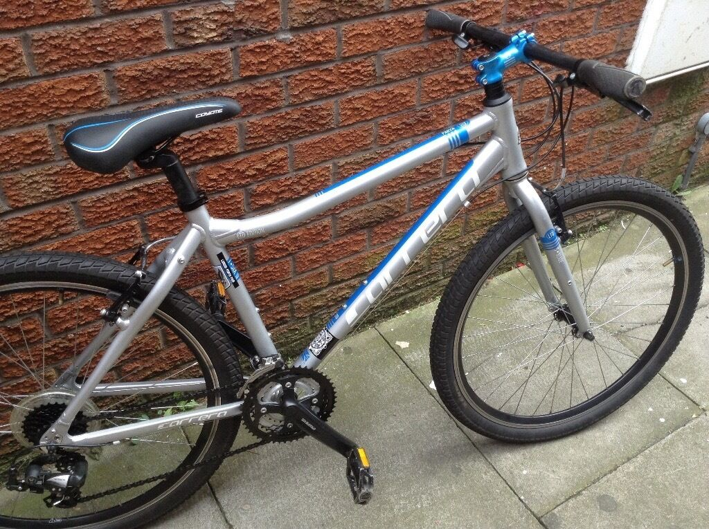 Carrera parva mountain bike 18 inch frame 27.5 inch wheels mint conditionin Eccles, ManchesterGumtree - 18inch Carrera mountain bike hardly used 27.5 inch wheels with fat road tyres 21 gears mint condition