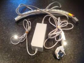 Nintendo Wii cables, power supply psi AV etc cable tidy