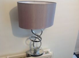Silver and chrome lamp