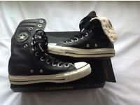 Converse All Star black leather look high tops