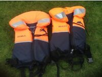 Childs life jackets