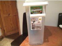 Dog cat bird food box storage dispenser