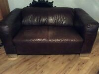Brown Leather Barker Stonehouse Sofa's