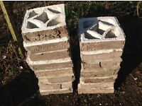 ** Reduced Price ** 15 x 1960s Vintage Ornamental Bricks
