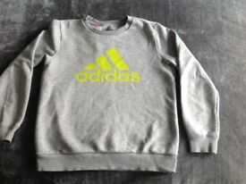 Grey Adidas sweatshirt age 11-12 years