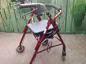 Mobility rollator walker, very good condition.