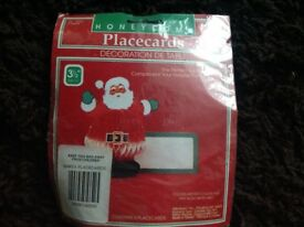 Christmas Santa place cards new in packet