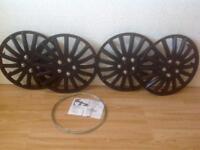 15 inch wheel trims unused