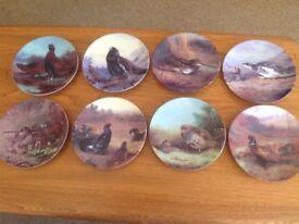 8 Gamebird Plates Perfect