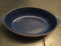 Denby imperial blue oven dish