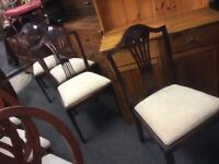 Reduced set of 4 chairs