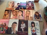 50+ assorted books, mainly autobiographies