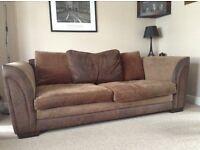 Three Seater Brown Sofa Settee