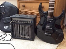 ELECTRIC GUITAR, COVER AND AMP