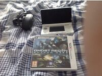 White 3DS & Game Almost new