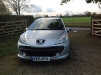 Peugeot 207 Immaculate Condition, 2010, 54,700 miles. 2 lady owners. FSH. New timing belt Oct 17.