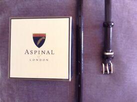 Aspinal ladies, leather burgundy & gold belt