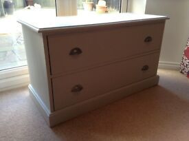 Vintage Chest with two draws. Great for storage. TV stand etc.