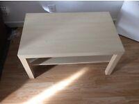 Ikea birch effect coffee table