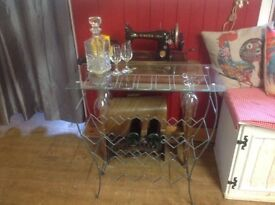 Glass cocktail bar stand