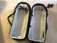 2 x Baby Jogger Compact Bassinet Carrycots (fits City Mini GT Double pram)