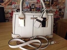 Small beige river island handbag
