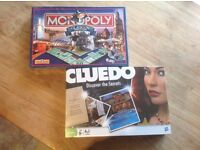 Brand New Cluedo and Monopoly Glasgow Board Games