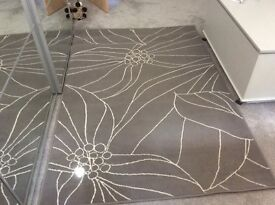 IKEA GISLEV RUG GREY / WHITE VGC