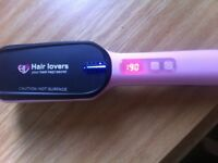 Good condition hair lovers hair straightener brush wet to dry