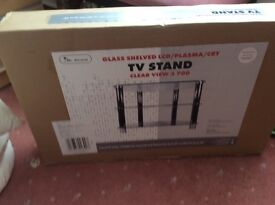 Glass TV stand - Boxed - never been opened!