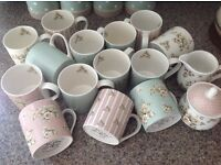 Bargain lot of 'Katie and Alice' mugs, sugar pot & milk jug, as new