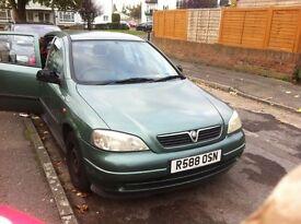 Vauxhall astra club 1.6v, 70,000 miles, mot until may 2016
