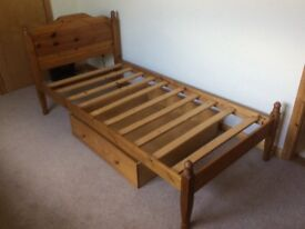 Pine Bed 3' suitable for adult or child. Optional underbed storage available.