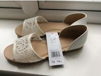 Brand new with tags size 3 white lace shoes