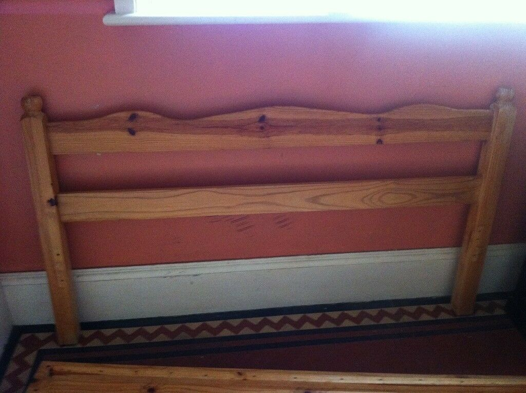 Cheap Wooden Double Bed Frame No Screws No Slats Can Deliver In