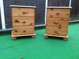 Pine bedside chests