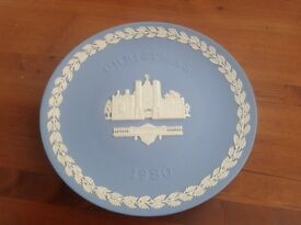1980 Jasper Blue Wedgewood Commemorative Christmas Plate