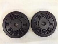 4 x 7.5kg Bodypower Standard Cast Iron Weights