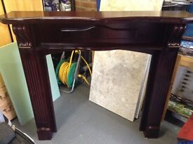 Mahogany Fire Surround Strong Heavey in Good Clean Condition Can Deliver Manchester or Near