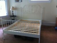IKEA White Frame Double Bed