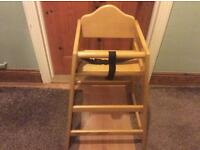 Bolero natural wooden high chair