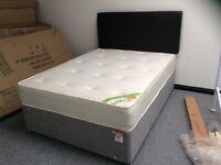 4'6 memory pocket mattress with divan base and headboard