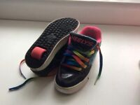 Kids Heely's in Black with rainbow laces Size 1