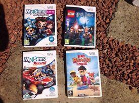Four wii games £20