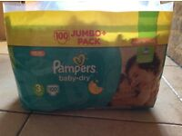 Nappies - size 3 Pampers baby dry